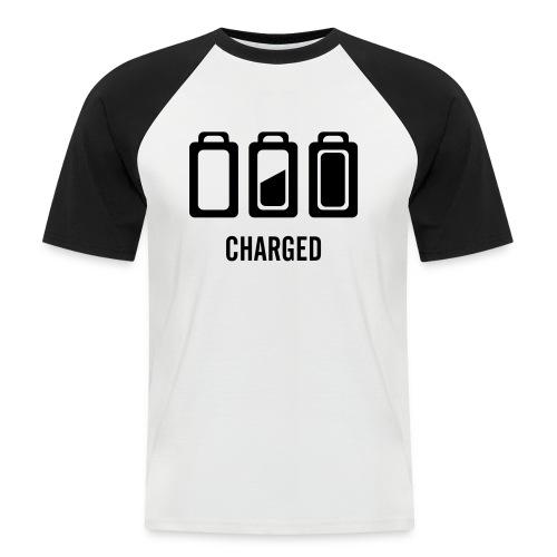 Battery - Männer Baseball-T-Shirt