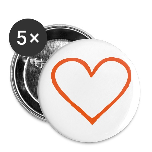 Coeur 01 - Badge moyen 32 mm