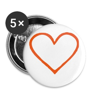 Coeur 01 - Badge grand 56 mm