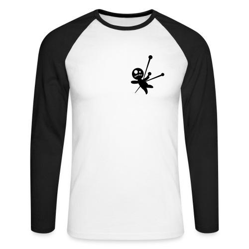 Camiseta Voodoo Beisbol B/N - Raglán manga larga hombre