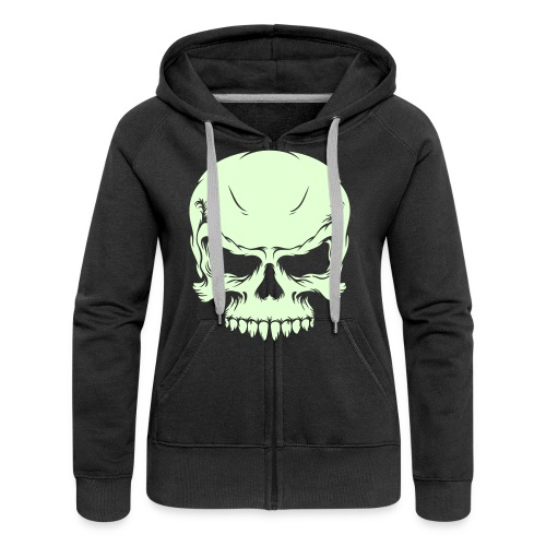 girl skull - Frauen Premium Kapuzenjacke