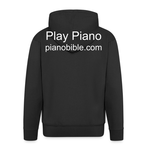 Play Piano - Men's Premium Hooded Jacket