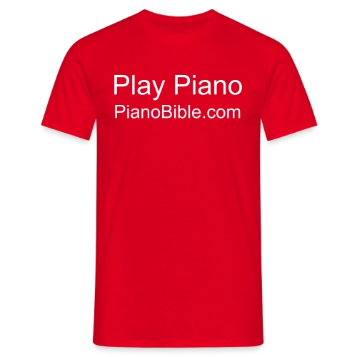 I play piano - Men's T-Shirt
