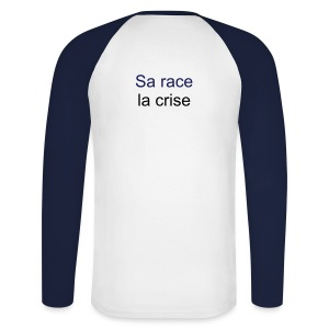 The winter T-shirt Sa race la crise for him - T-shirt baseball manches longues Homme