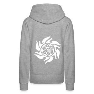 pStyler woman grey/white - Frauen Premium Hoodie