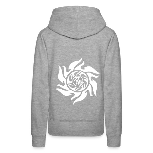 pStyler woman grey/white - Frauen Premium Hoodie