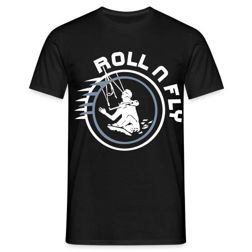 Männer Shirt Kite n Roll Schwarz - Männer T-Shirt