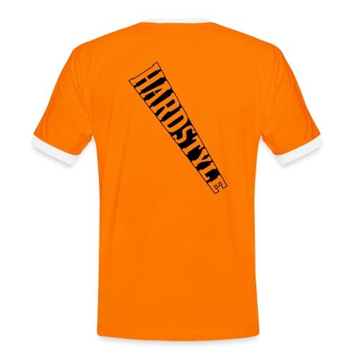 Männer Hardstyle Shirt orange/schwarz - Männer Kontrast-T-Shirt