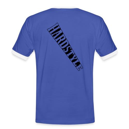 Männer Hardstyle Shirt blau/weiß - Männer Kontrast-T-Shirt