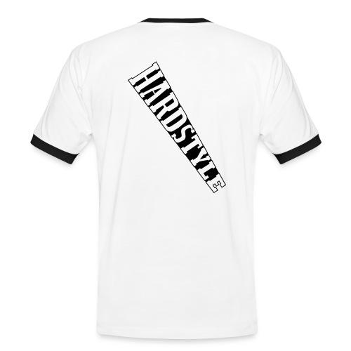 Männer Hardstyle Shirt weiß/schwarz - Männer Kontrast-T-Shirt