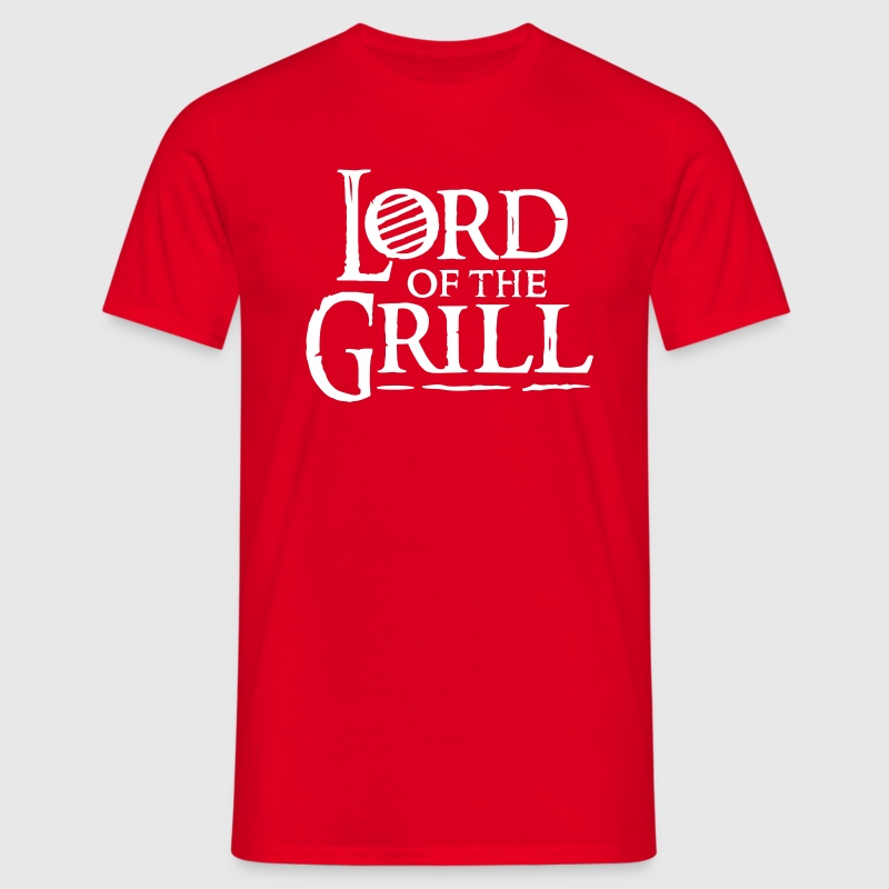 Rot ::LORD OF THE GRILL:: T-Shirts - Männer T-Shirt
