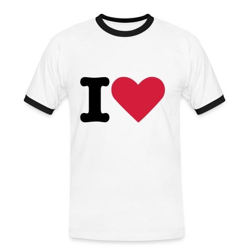 Kontrast-Shirt I Love - Männer Kontrast-T-Shirt