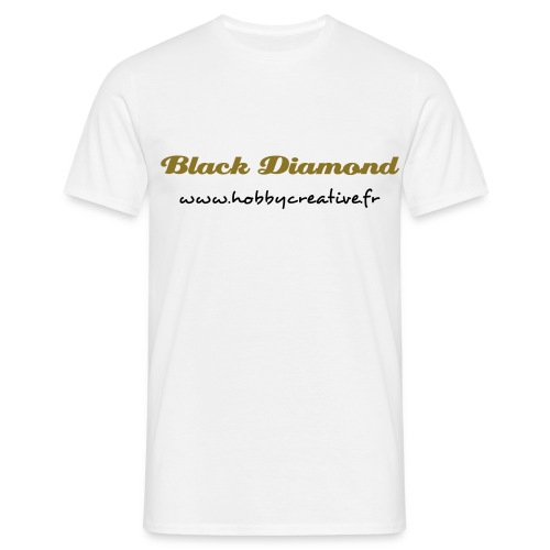 Tshirt Black Diamond - Or - T-shirt Homme
