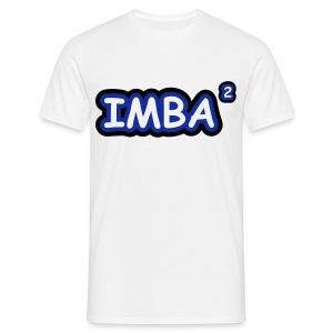 IMBA T-shirt white imbalogo - Miesten t-paita