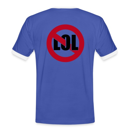 LoL / blue&white - Men's Ringer Shirt
