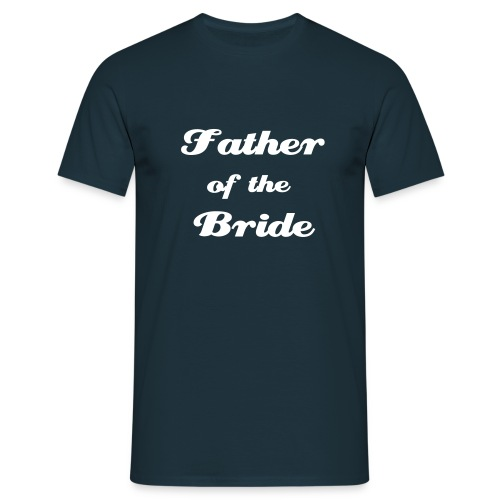 Father Bride - Navy - Men's T-Shirt