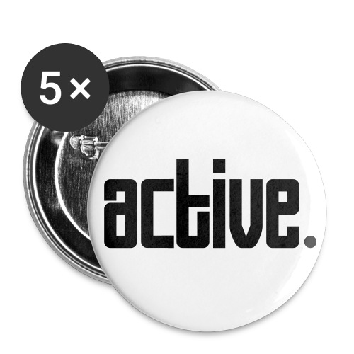Grands gadges par 5 - active - Badge grand 56 mm