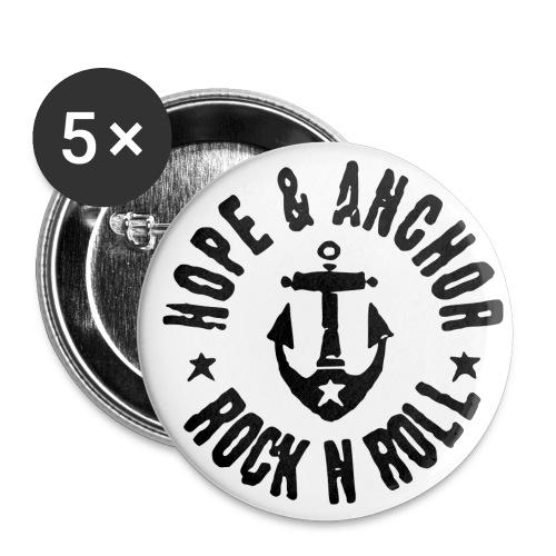 Hope & Anchor - Badges - Buttons klein 25 mm (5er Pack)