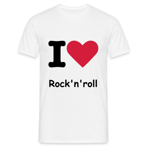 I love Rock'n'roll - T-shirt Homme