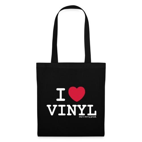 I LOVE VINYL Beutel (schwarz) - Stoffbeutel