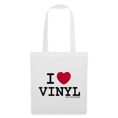 I LOVE VINYL Beutel (weiß) - Stoffbeutel