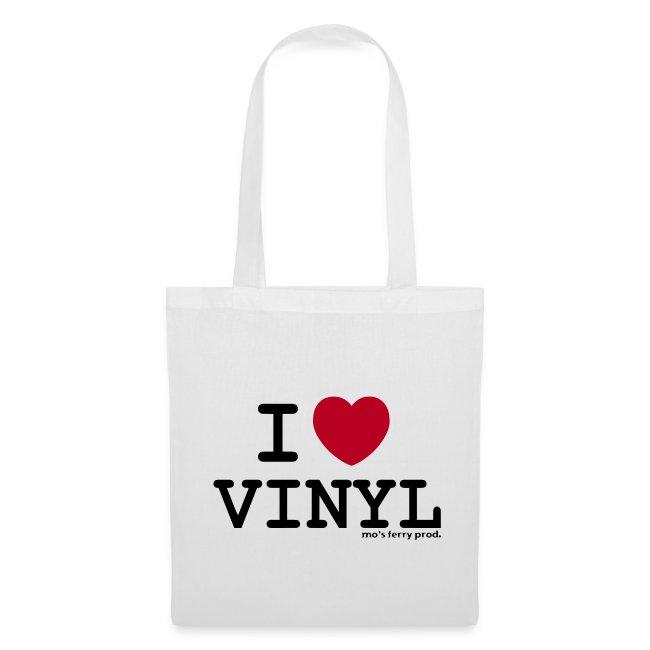 I LOVE VINYL Beutel (weiß)