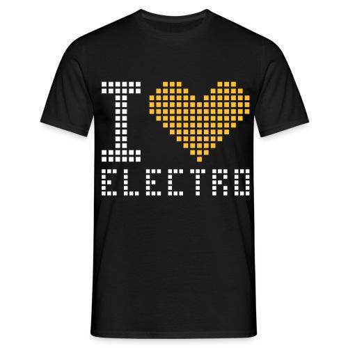 I LOVE ELECTRO Mande-Tshirt (Selvlysende) - Herre-T-shirt