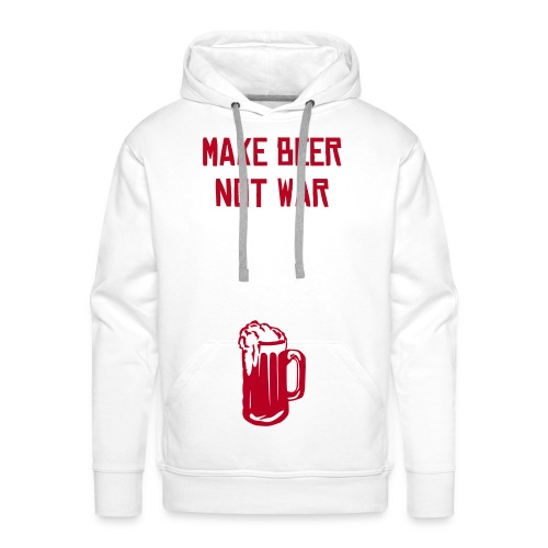 D-King make beer not war - Men's Premium Hoodie