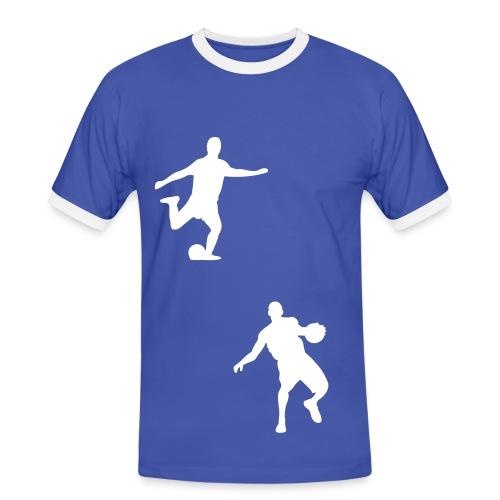 Wałbrzyszanie - Koszulka męska z kontrastowymi wstawkami