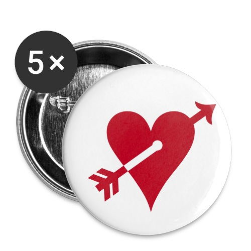 Le Badge du coeur transpercé - Badge petit 25 mm
