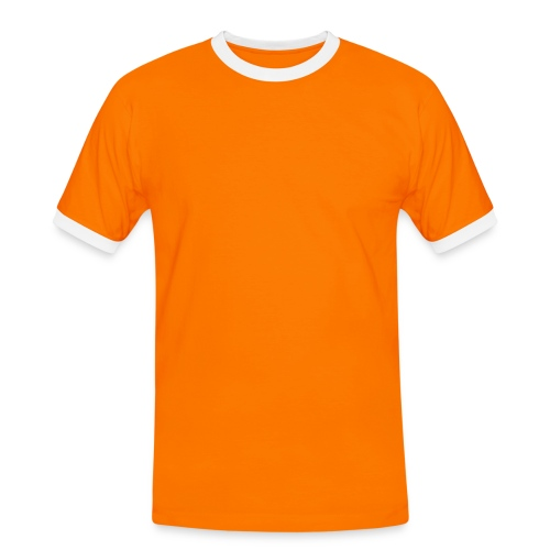 orange - Kontrast-T-shirt herr