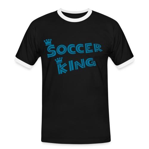 FCF Soccer King - Männer Kontrast-T-Shirt