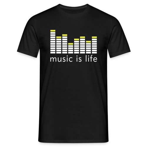 equalizer music is life - Mannen T-shirt