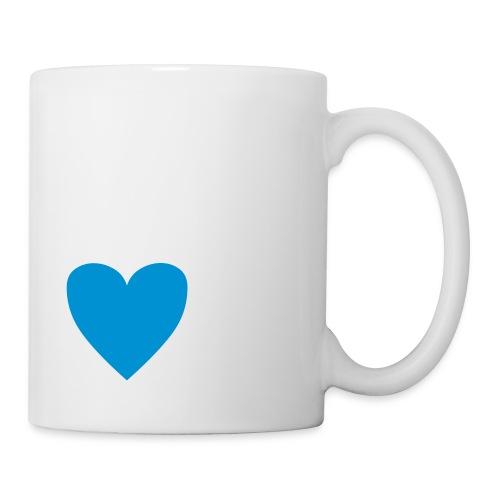 Mug coeur bleu - Mug blanc