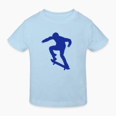 Light blue Skater - Skateboard - Skating Kid's Shirts