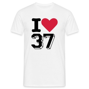 OFFICIAL White T-shirt - I LOVE 37 - Maglietta da uomo