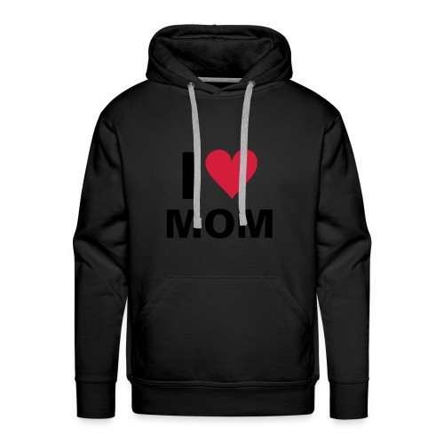 i love mom - Premium hettegenser for menn
