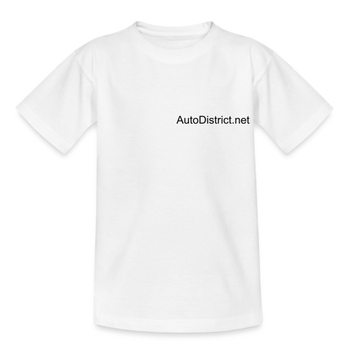 AutoDistrict T-Shirt (wit) - Teenager T-shirt
