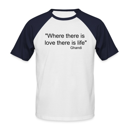 Love and life - Men's Baseball T-Shirt