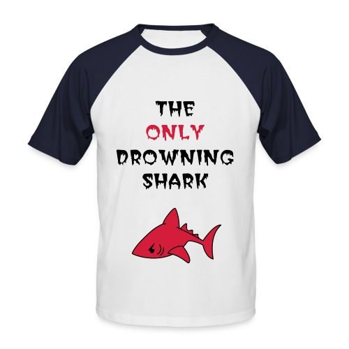 Snow by The Only Drowning Shark - Men's Baseball T-Shirt