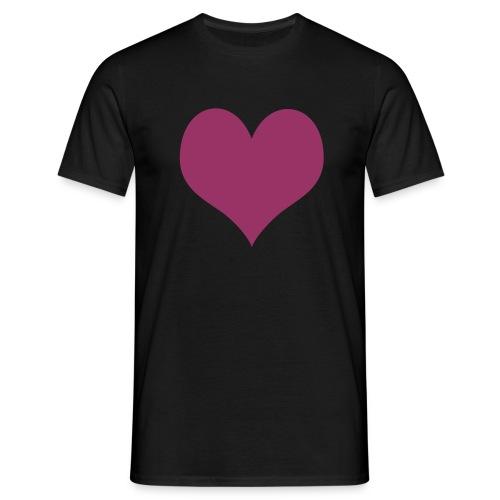 Heart (rouge pailleté) - T-shirt Homme