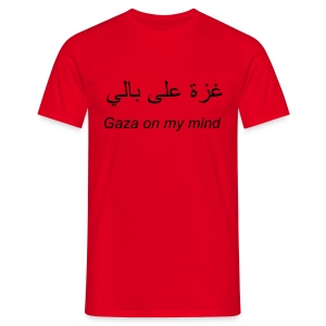 Gaza on my mind (m) - Men's T-Shirt