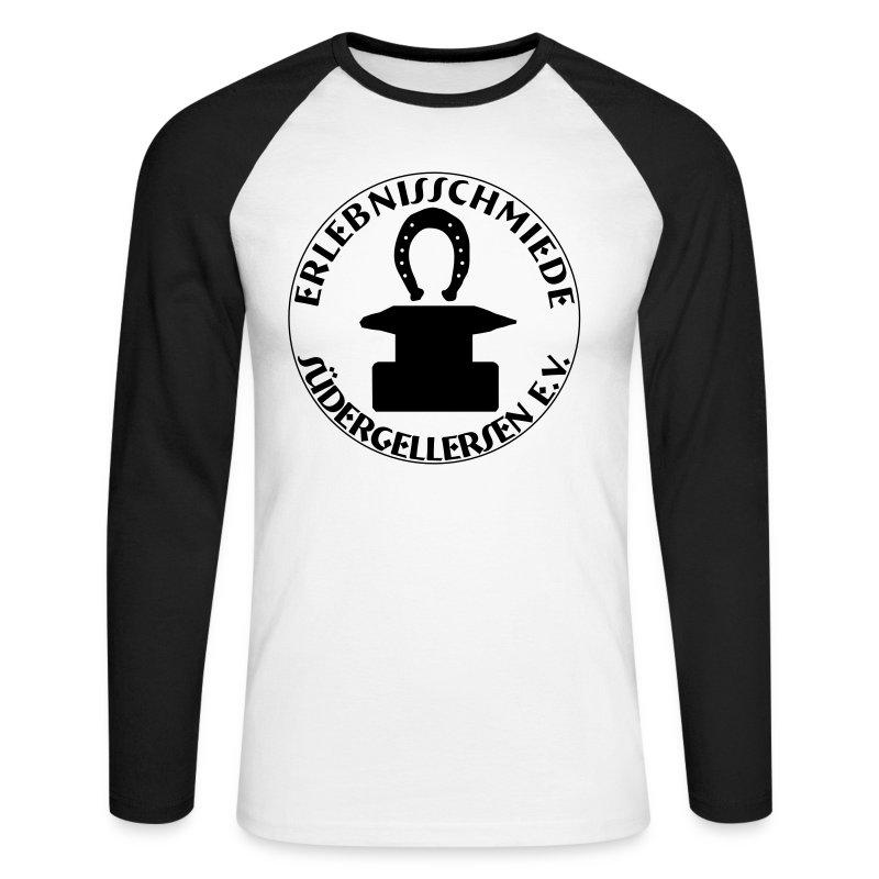 Schmiede-Warmduscher-Shirt - Männer Baseballshirt langarm