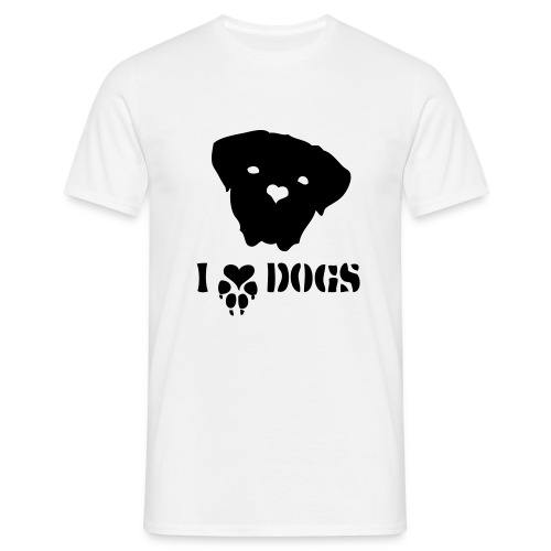 I (Love) Dogs - Männer T-Shirt