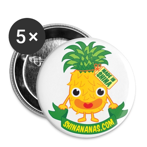 Shinananas - Badges 5*32mm - Lot de 5 moyens badges (32 mm)