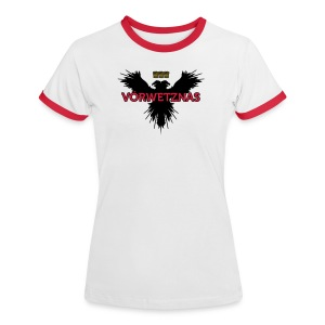 Voerwetznas1 - Frauen Kontrast-T-Shirt