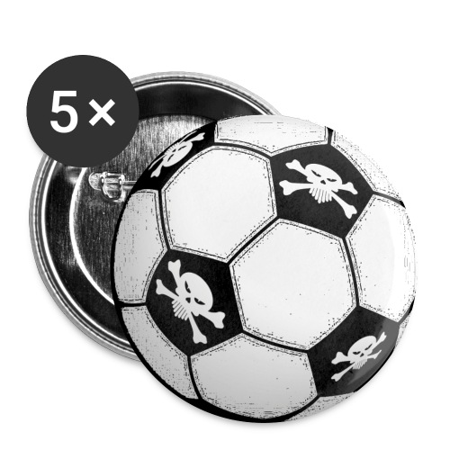 skull football - Buttons large 56 mm