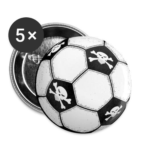skull football - Buttons medium 32 mm