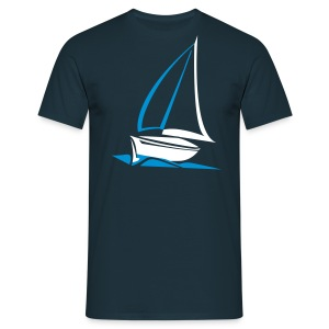 Segelyacht Designshirt - Männer T-Shirt