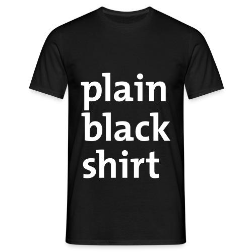 Plain black shirt - T-skjorte for menn